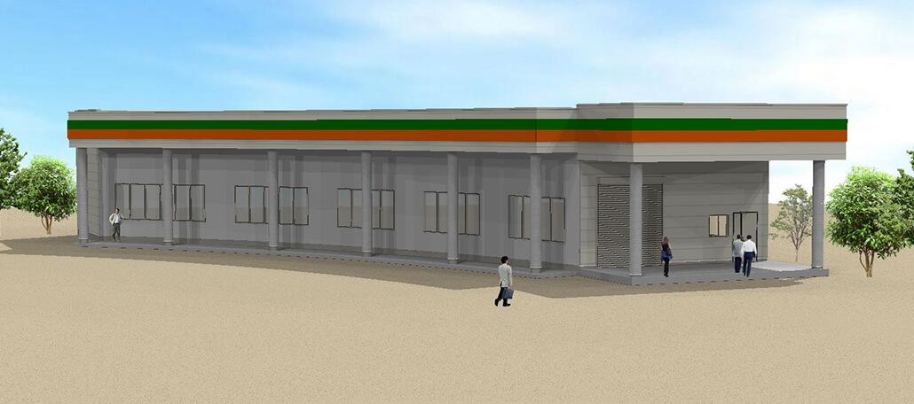 資材棟 2021年3月完成